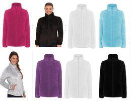 Wholesale Womens Bomber Jacket Xl - 2018 New Winter Womens Fleece Osito Jackets Fashion Soft Fleece Warm Slim Coats Outdoor Ladies Brand Mens Kids bomber Jacket Women Down Coat