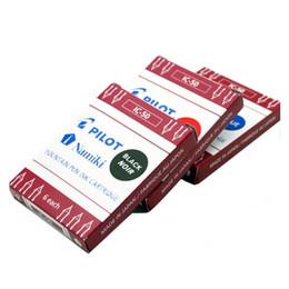 Wholesale Pilot Pens - 6 pcs set Authentic Pilot Namiki IC-50 Fountain Pen Ink Cartridge Blue Black Red Color