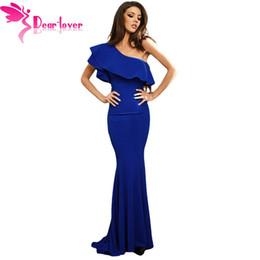 ca4b4ce9d7 Dear Lover Party Elegant Vestido De Festa Long Gowns Royal Blue Ruffle One  Shoulder Bodycon Mermaid Dress robe femme ete LC61630