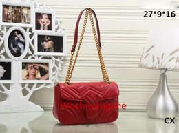 Мода Марка наплечная сумка золотая цепь женские сумки Алмаз решетки Сумки женские сумки на ремне в форме сердца Красный подкладка сумки 1732 от