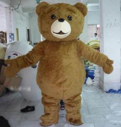 Alta qualidade hot Teddy Bear Mascot Costume Fancy Dress transporte rápido tamanho adulto cheap mascot cartoon costumes de Fornecedores de mascote cartoon trajes