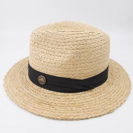 Gartenarbeit hüte frauen online-EPU-MH1830 Natürliche 100% Raffia Stroh Braid Mann Frau Mode Vintage Klassische Panama Aussie Hut für Sommer Sonnenschutz Garten Im Freien