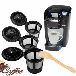 Sistemas de café on-line-3 pçs / set Reutilizável Recarregável Filtro de Café Cesta K-Copos para Keurig 1.0 Sistema de Pod Compatível Malha De Aço Inoxidável NNA376