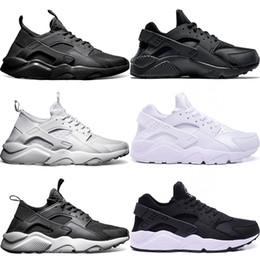 free shipping 40b06 952c6 Nike Air Huarache Ultra Laufschuhe Männer Frauen Dreifach Weiß Kern Schwarz  Rot Günstige Huaraches Herren Sportlich Sportschuh Größe 5.5-11 Kostenloser  ...