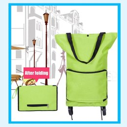 Wholesale Wheel Shopping Trolley - Multifunctional Waterproof Oxford Cloth Foldable Supermarker Shopping Trolley Wheel Bag Traval Cart Luggage Bag Dropshipping
