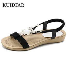 d377b5ab98469 KUIDFAR 2018 Fashion Women Sandals Summer Gladiator Shoes Ladies Bohemia  Shoes Woman Comfort Beach Shoes Flat Sandals Red