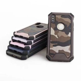 Wholesale Apple Iphone Colors - Army Camouflage Case Luxury Hybird Armor Shockproof Cover For iPhone 6 7 8 Plus X Galaxy S7 Edge Note8 S8 Plus 6 Colors