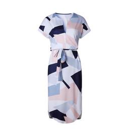 fcb0e36afae78 Women Summer Casual Dress Short Sleeve Boho Dress Sexy V Neck Evening Party Beach  Dresses Sundress Plus Size