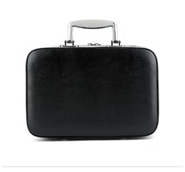 Wholesale black glossy bags - 2018 New PU Cosmetic Case with Handle Classic Logo Pattern Luxury Pattern C Makeup Organizer Cosmetic Bag