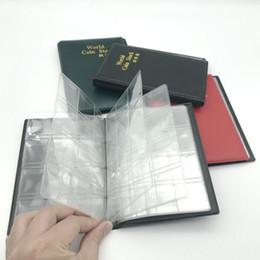 livres porte-monnaie Promotion 120 Ouvertures Pièces Porte-monnaie Poches Album Album Livre Collecting Money Penny Sac De Rangement Portable QW8729