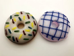 Wholesale Looking Glasses - Factory Direct Seller Donut Style Smoking Pipe with Fancy looking Color Combined 3inch Diameter 70g pc Pure Handcraft SP-081
