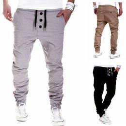 Wholesale Lace Pants Men - ITFABS Newest Arrivals Fashion Hot Men's Casual Pants Lace Up Button Biker Street Casual Pants