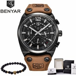 mens military army watch Coupons - BENYAR Mens Watches Military Army Brand Luxury Sports Casual Waterproof Male Watch Quartz Stainless Steel Man Wristwatch XFCS