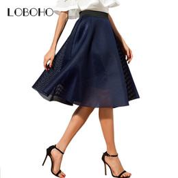 6894a16e8a4 blue pleated midi skirt 2019 - High Waist Skirts Womens 2018 Summer Fashion  Casual Midi Skirt
