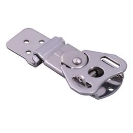 Scatola di fissaggio online-un pezzo di metallo hasp a coda di rondine fibbia bagaglio industriale sacchetto di fissaggio hardware air box lock tool caso fibbia
