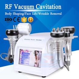 Máquina de masaje de vacío delgado online-6In1 cavitación adelgazante ultrasónica Pérdida de Peso Masaje al vacío RF Apretamiento de la piel BIO Lifting Facial Eliminación de arrugas Cuerpo que forma la máquina de la belleza