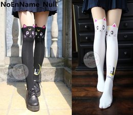 2019 cosplay de matelas noires Anime Sailor Moon Cosplay Motif Luna Chat Collant  Collants Chaussettes Bas 0cd28dbaaf4