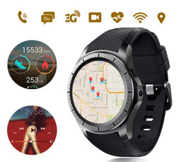 Wholesale Sim Card Voice - GW10 SMART WATCH With Browser GPS BT 3G WFI SIM Card Support Heart Rate Camera Voice Clock For Android IOS Phones