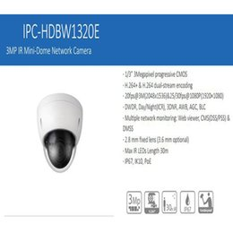 Wholesale 3mp Dome - Free Shipping DAHUA 3MP Full HD Vandalproof and Waterproof Mini IR Network Dome Camera without Logo IPC-HDBW1320E