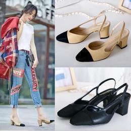 Sandali donna in pelle nuovo arrivo Paris Catwalk Heels Shoes Collezione  Autunno in pelle e pelle scamosciata da donna fionda del tallone economici 369bb400015
