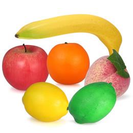 Schiuma decorativa Frutta finta Mela Leamon Peach Arancio FAI DA TE Plastica artificiale Frutta per la casa Cucina Decorazioni Fotografia Puntelli da