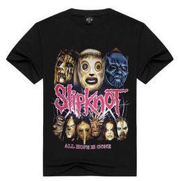 cortos de la venda de la roca Rebajas Vintage Rock Band camiseta de los hombres de manga corta Slipknot Banda impresa camiseta American Tide Brand ropa para hombres