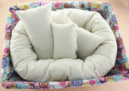 Wholesale pillow fillers - 2018 Newborn Photography Basket Filler Wheat Donut Posing Props Baby Pillow for baby Take Photos modeling pillow #ZXT