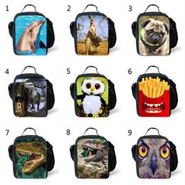 Sacchetti per animali online-40 Style Kids 3D Animal Dinosaur TY Lunch Box Bag Divertente Zaino per Adolescenti Studenti Borsa da viaggio Borse da gioco unisex B
