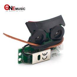 Guitarra con agujero de sonido online-VT1 Sound Hole Piezo suave Undersaddle Pickup con sistema de preamplificador incorporado para guitarra acústica Black
