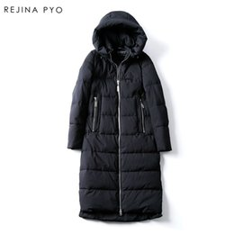 Wholesale Korean Winter Style Clothing - Rejina Pyo Korean Style Women Solid Warm Indulgent X-long Thick Hooded Parkas Coat Female Outerwear Clothing Winter New Arrival