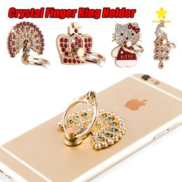 Wholesale Diamond Mobile Phone Stand - Finger Ring Holder Mobile Phone Holder Bling Diamond Phone Stand Mount for iPhone 8 Plus iPhone X