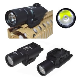 Wholesale Led Shots - X300 LED tactical flashlight white Light torch for rifle scope for hunting shooting Picatinny Weaverer 20mm
