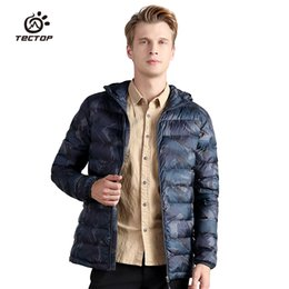 polyester fiber padding Promo Codes - 2018 Winter Polyester fiber padded Jackets Men Lightweight Hooded Polyester padded Coats Thermal Camouflage Hiking Jackets S-3XL