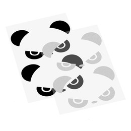 Housses de portes en Ligne-2 pcs Autocollant De Voiture et Stickers Rétroviseur Fenêtre de Couverture Auto Décor Accessoires Panda Yeux Car Styling Porte Decal Fenêtre Vinyle