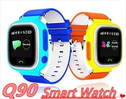 Wholesale Q Watches - Q90 Kids Bluetooth Smartwatch Q 90 Smart Watch For Child IPhone Android Smart Phone with GPS Tracker WiFi LBS Wearable Device MQ20