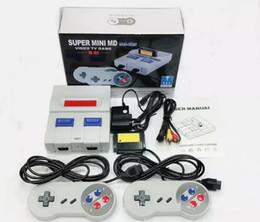 16 bit md online-16 Bit Super MINI MD Consola de videojuegos SG-105 16Bit Game Player para consolas de juegos Sega