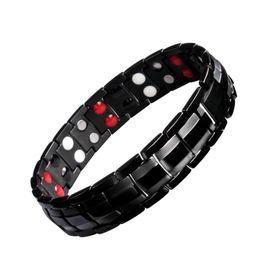 Wholesale mens health bracelets - Health Energy Bracelets For Women Magnetic Therapy Bracelet Mens Germanium BraceletPain Relief For Arthritis And Carpal Tunnel Bracelets