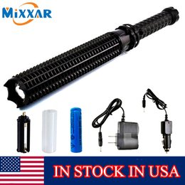 Wholesale Usa Portables - Stock In USA Powerful 4500LM LED Flashlight 18650 Battery CREE XM L2 Telescopic Self Defense LED Rechargeable Torch Flash Light