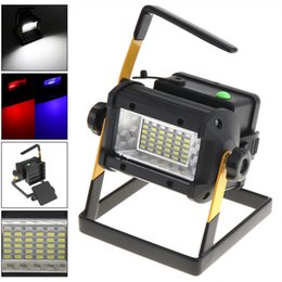 Wholesale Portable Search - Sale 50W 36 XPE LED Waterproof Search Light Emergency Lamp with 3 Modes Light And Portable Stent for Site   Outdoors   Camping