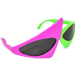 f67d6c5181 Hip-Hop Sunglasses Roy Purdy Style mask funny sunglasses Novelty Green Pink Contrast  Color Glasses party decoration supplies