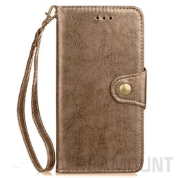 Wholesale Custom Armbands - 50 pcs Custom Business Wallet Leather TPU Case with Card Pocket for iphone 7 Plus Samsung S8 Plus S7 edge Redmi 4X