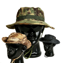 special blend hats Promo Codes - Camouflage Caps Tactical Gorras Special Forces Military Bonnie Hats SWAT Sniper Hunter Fisherman Fishing Bucket Hat Jungle CS