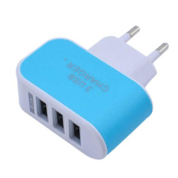 Wholesale Colorful Lighting Direct - 5V2A 3 USB candy colorful mobile charger Android smart universal mobile phone light Cell Phone Chargers