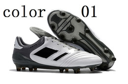 Wholesale Copa Football Boots - High quality 2018 New Arrival Men Copa 17.1 FG Soccer Shoes Outdoor Genuine Leather Mens Soccer Cleats Boots Football Shoes size40-45