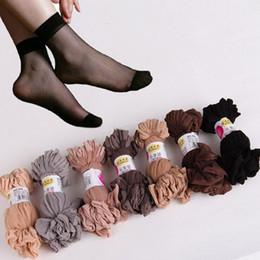 Canada Chaussettes pour femmes sexy ultra-minces en soie soyeuse élastique Chaussettes courtes en soie 10 paires Offre