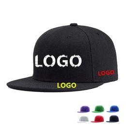 wholesale ball caps custom embroidery UK - High Quality DIY Your Own Cap Custom Logo Caps Women Men Snapback Blank Customized Hats Dad Printed Cap Embroidery LOGO Snapback Cap