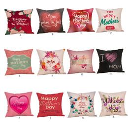 2019 flores rojas ropa de cama verde Feliz Día de la Madre Fundas de Almohada Dormitorio Cojín Decoración Para El Hogar Funda de Almohada Nueva Moda de Alta Calidad de Algodón 10JUL 16