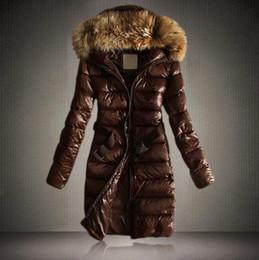 weißer gefüllter mantel Rabatt Damen Thicken White Down Jacken langärmeliger, großer Pelzkragen gefüllt Wintermantel Parka Plus Size S-2XL