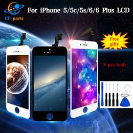 Precio por manzana 5s online-Precio al por mayor para iPhone 5 5c 5s 6 6 Plus Pantalla LCD táctil con pantalla digitalizadora Ensamblaje Reemplazo completo Calidad Tianma