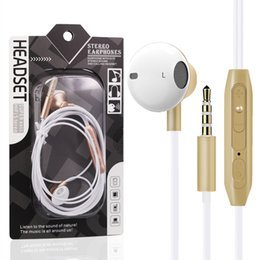 Wholesale earbuds iphone package - 3.5MM In-Ear Earphone Headset Metal Earbuds Earphones Microphone For iPhone Samsung Xiaomi Universal With Retail Package